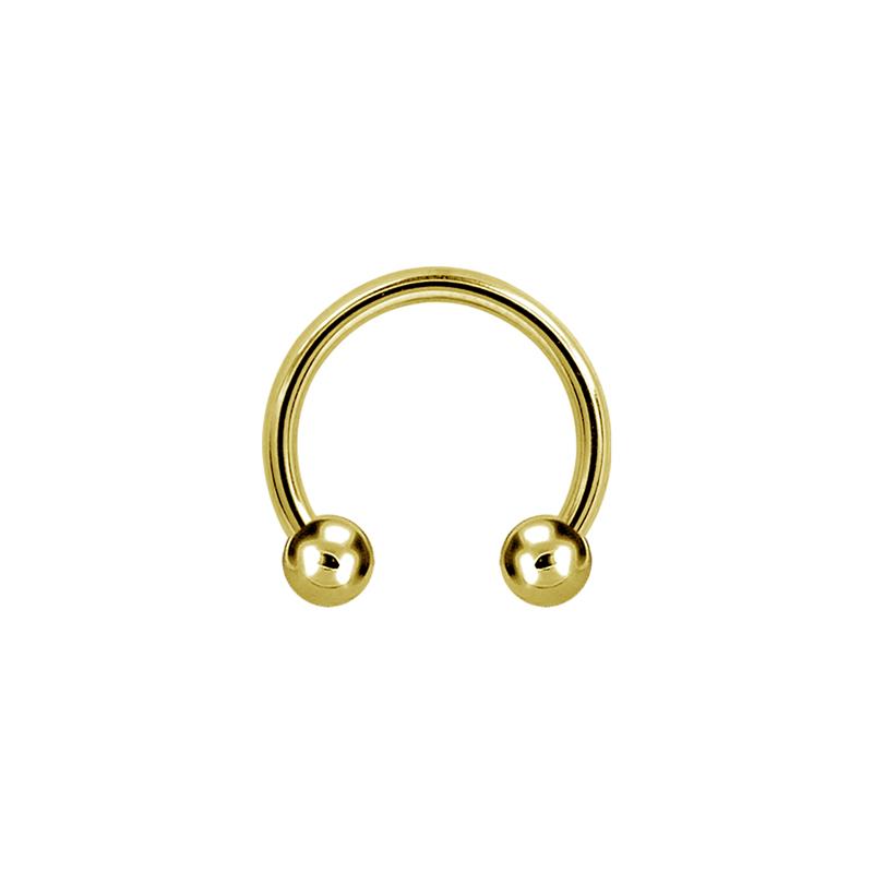 Hästsko ring - Cirkulär barbell - Guld PVD