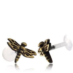 Labret med topp i mässing, Dragonfly