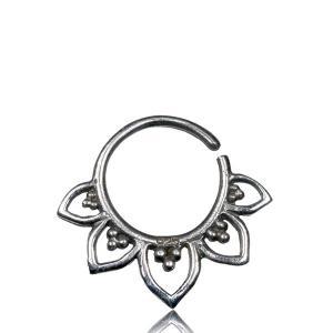 Septumsmycke i äkta silver - Lotusblomma