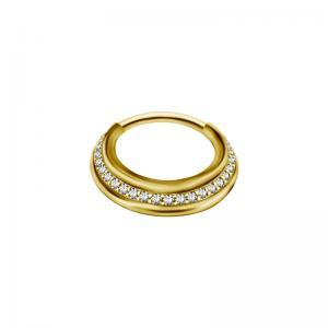Septumsmycke - Guldring med kristaller