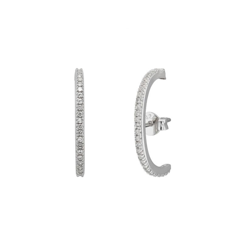 Örhängen - Cuff med Kristaller