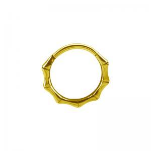 Guldring clicker till piercing - 24k Pvd Guld - Bamboo