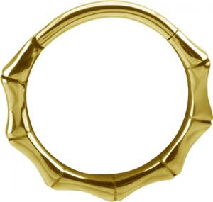 Conch Ring - Clicker ring i Pvd Guld - Bamboo