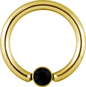 Clip-in Disc till Ball Closure Ring / Captive Bead ring (Bcr) PVD Guld