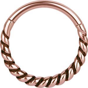 Clicker Ring - Piercingsmycke - Roséguld Pvd Stål