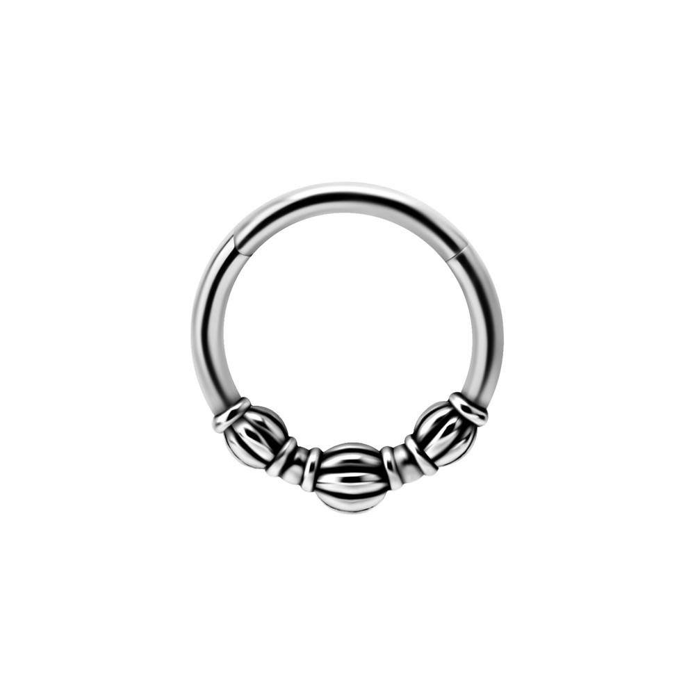 Silvrig ring - Clicker - Piercingsmycke