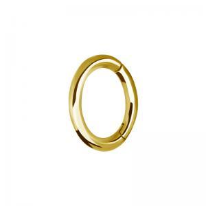 Oval Rook Clicker - Guldpläterad Ring