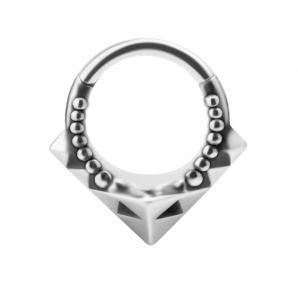 Piercingsmycke Ring - Silvrig ring till piercing