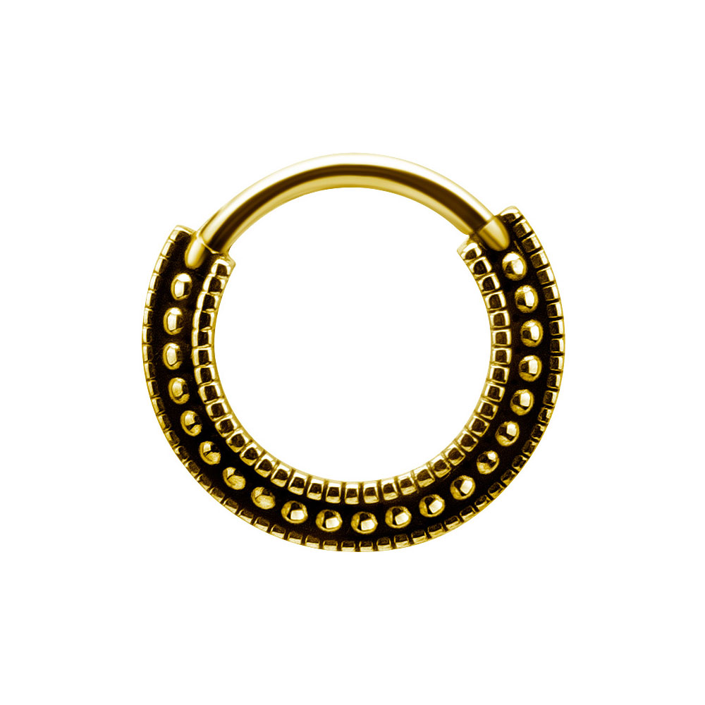Piercingsmycke Ring - Guldpläterad clicker ring till piercing