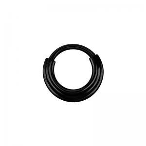 Clicker ring - Piercingsmycke - Svart kirurgiskt stål