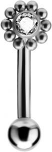 Böjd barbell i kirurgiskt stål till Rook piercing