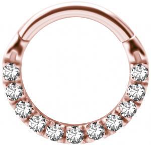 Septum / Daith-Smycke -  Clicker Roséguld - kristaller