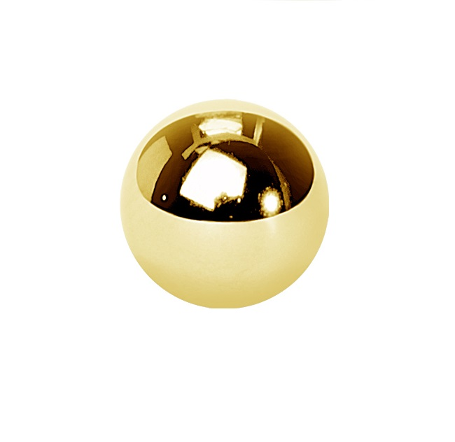 Guldig Kula till piercing - Kirurgiskt Stål