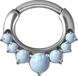 Septum Clicker, Vit Opal