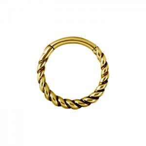 Guldring - Tvinnad Clicker Ring - Kirurgiskt stål
