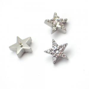 Piercingsmycke - Topp med Vit kristall - Stjärna