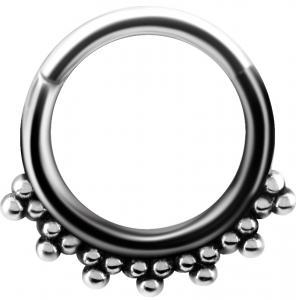 Silvrig Clicker ring - Piercingsmycke