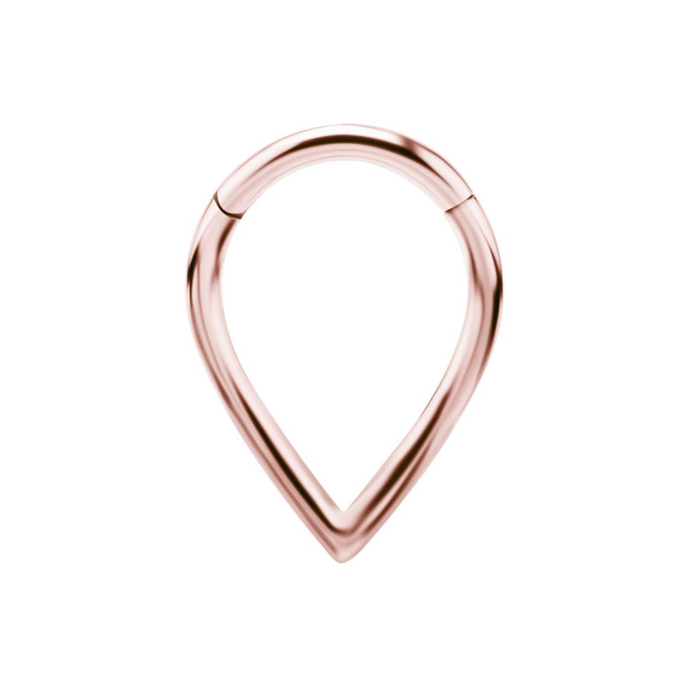 Ring till piercing - Teardrop Clicker - Roséguld