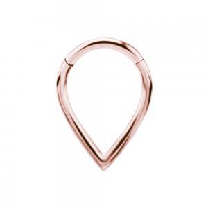 Ring till piercing - Teardrop Clicker - Rosé Guld