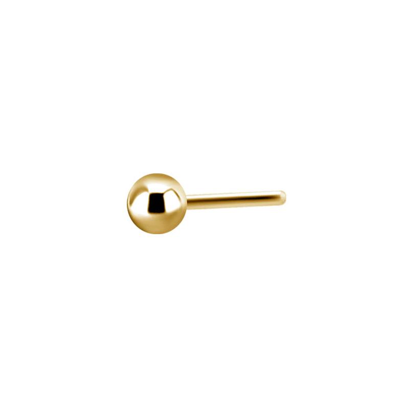 Kula guld - Push fit topp - Threadless piercingsmycke