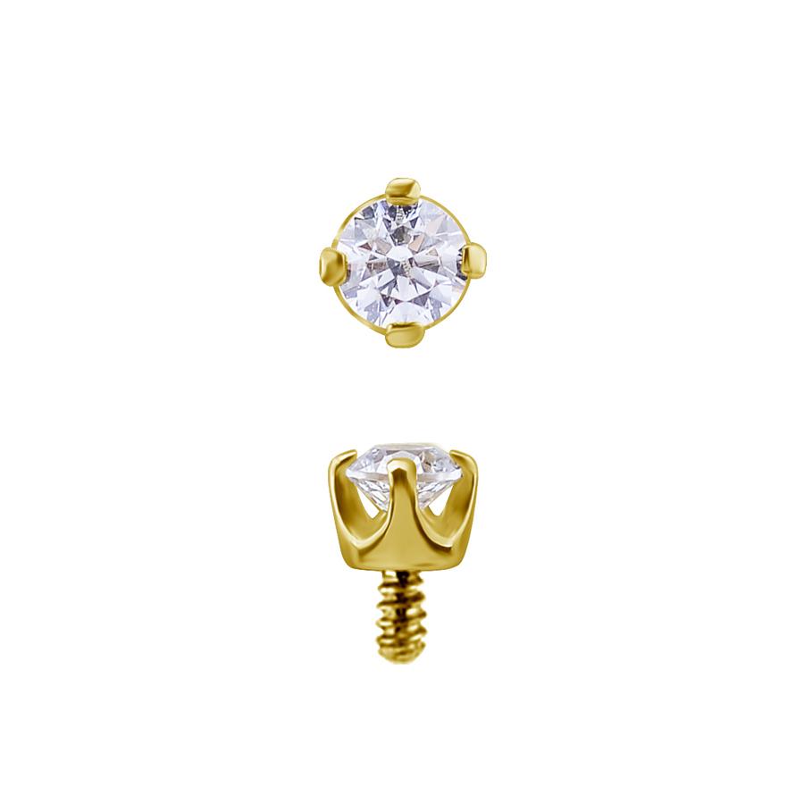 Kristall - 18k Guld - Piercingsmycke