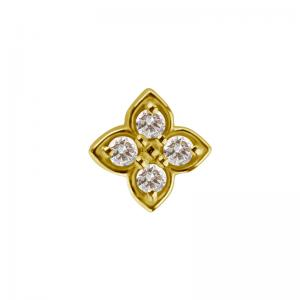 Piercingsmycke - 18k Guld - Geometrisk topp med kristaller