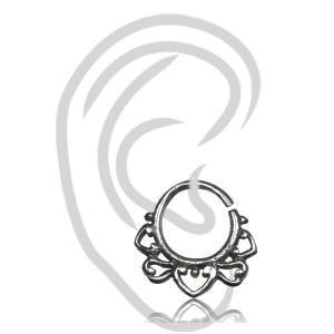 Liten Tragus / Näsring - Äkta Silver