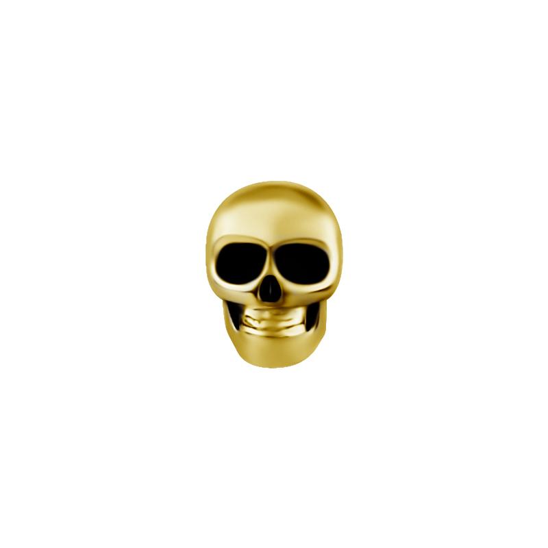 Döskalle - Piercingsmycke - 24k-guldplätering