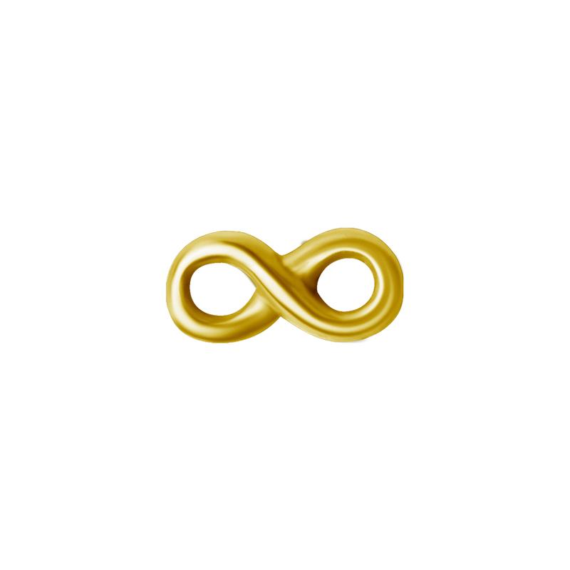 Evighetstecken - Topp till piercing - 24k-guldplätering