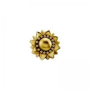 Flower topp till piercing PVD Guld