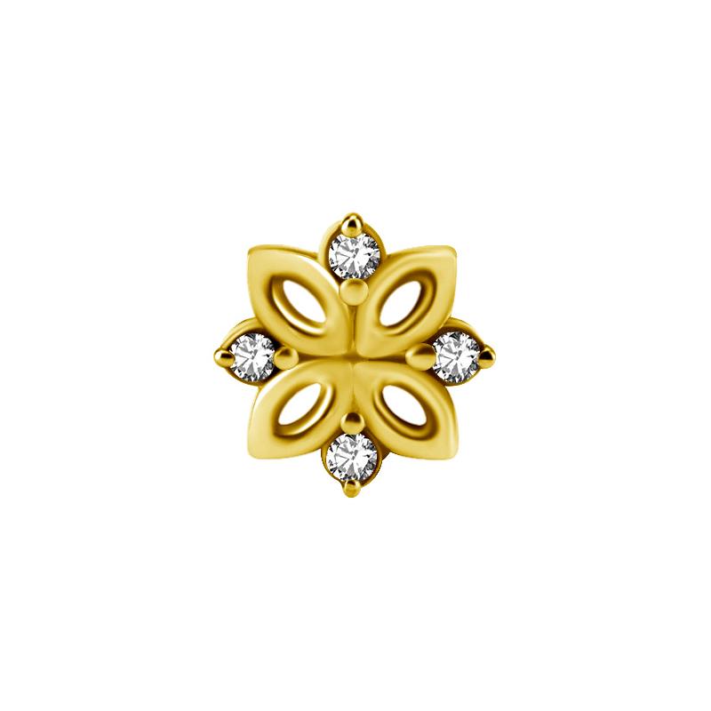 Kristallsmycke - Piercingsmycke - 24k-guldplätering