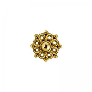Mandala topp till piercing PVD Guld