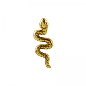 Orm - Piercingsmycke - 24k-guldplätering