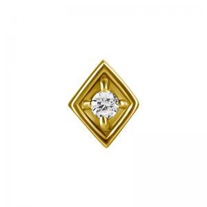 Romb - Topp till piercing - 24k-guldplätering