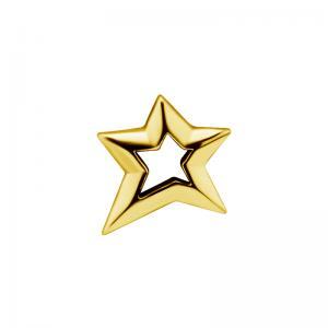 Stjärna - Piercingsmycke - 24k-guldplätering
