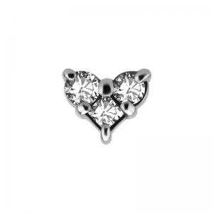 Trinity - Topp med kristaller till piercing