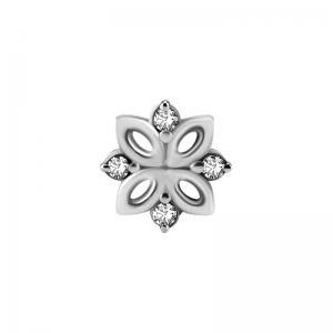 Kristallsmycke - Piercingsmycke - Topp i kirurgiskt stål