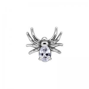 Piercingsmycke - Topp med Vit kristall - Spindel
