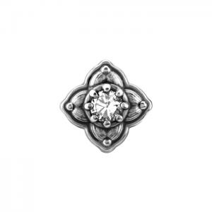 Piercingsmycke - Topp med Vit kristall