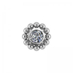 Kristallsmycke - Topp till piercing