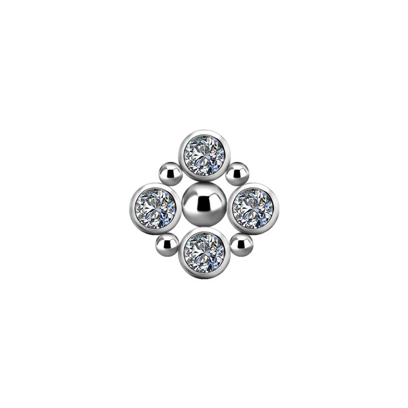Kristallsmycke - Piercingsmycke - Topp i Titan