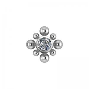 Bali - kristall topp till piercing