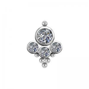 Cluster kristall topp till piercing