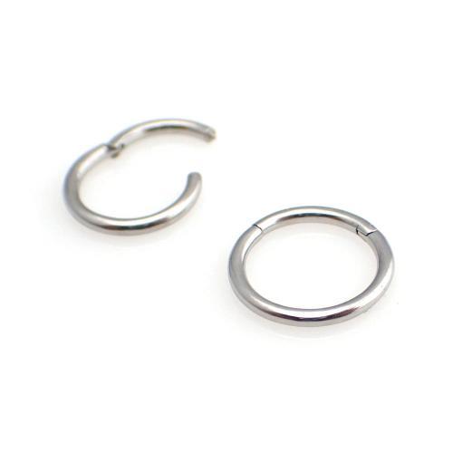 Silvrig Segment Ring - Clicker ring till piercing