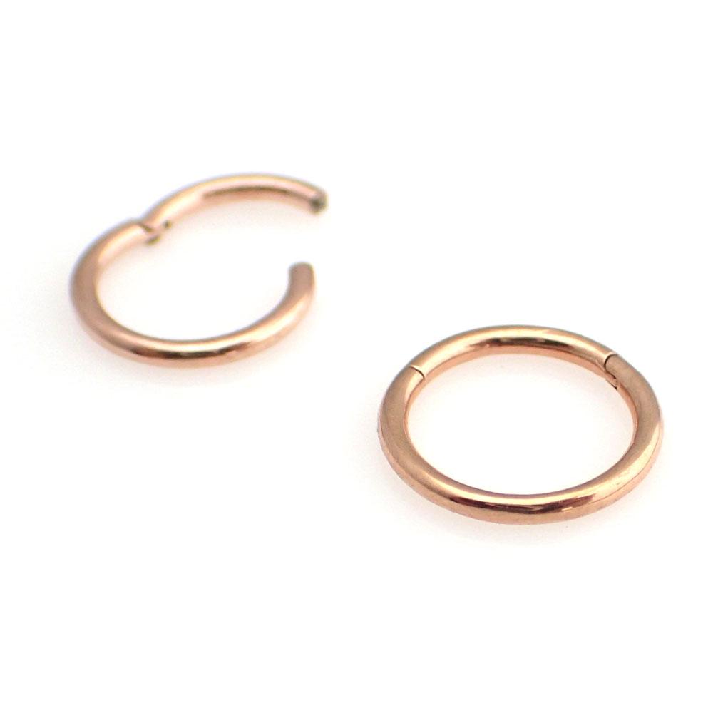 Slät ring  - Segment Clicker - Roséguld