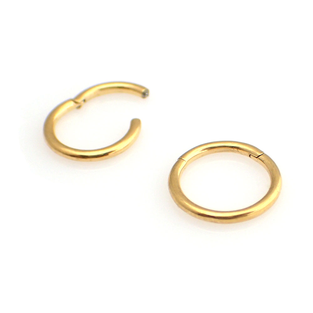 Guldig Segment Ring - Clicker - 24k-guld Pvd