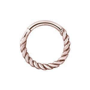 Tunn Ring - Roséguld stål - Clicker