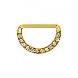 Ring till nipple piercing - Clickersmycke till bröstvårta - 24k-guld PVD