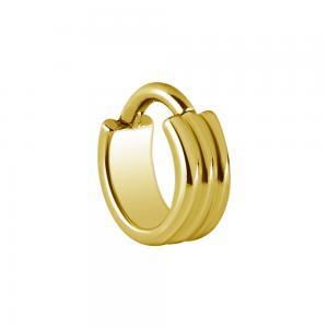 Bred ring till piercing - 24k-guld Pvd plätering - Clicker