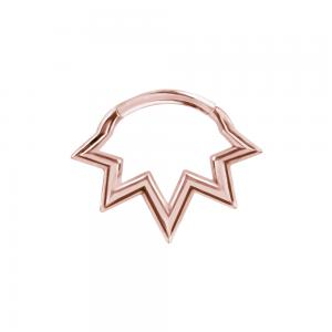 Septum / Daith Clicker - Piercingsmycke - Stjärna i roséguld